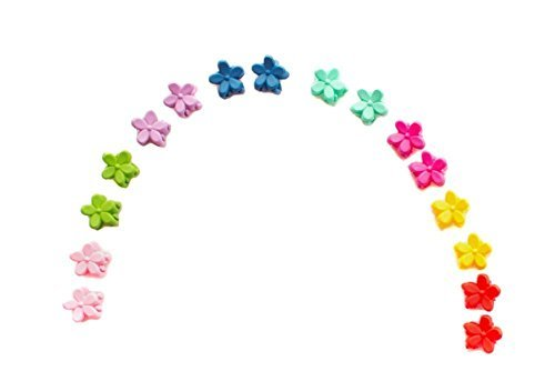 Price comparison product image HugeStore 18 Pcs Mini Hair Claw Flower Hair Clip Hair Clamps Barrettes Headpiece for Baby Girls Kids #1
