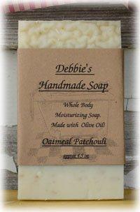 Debbie's Oatmeal Patchouli Handmade Soap (4 bars)