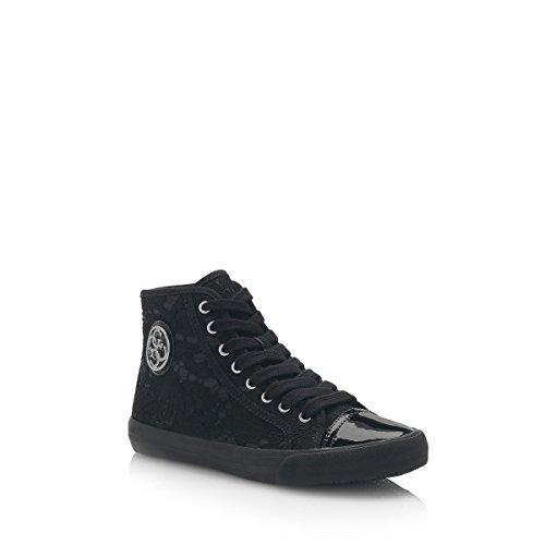 Negro Mujer 40 Sneakers Guess Zapatillas Talla HxXUUq