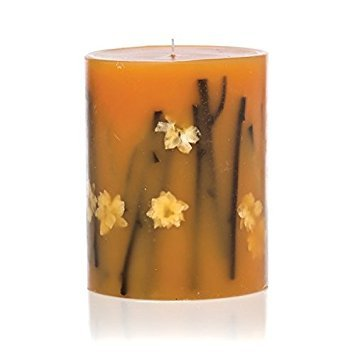 Rosy Rings Honey Tobacco Round Scented Candles, 6.5''