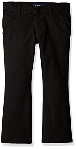 The Children's Place Big Girls' Uniform Pants, Black 43302, 12