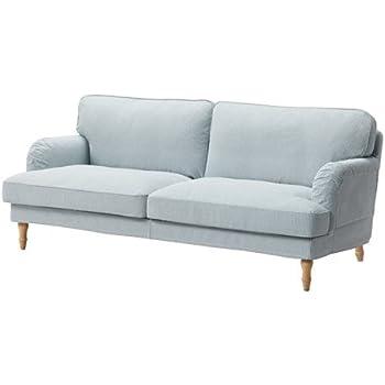 Amazon.com: Ikea Sofa cover, Remvallen blue/white 1028.22011 ...