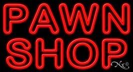 Pawn Shop Neon Sign - 20'' x 37''