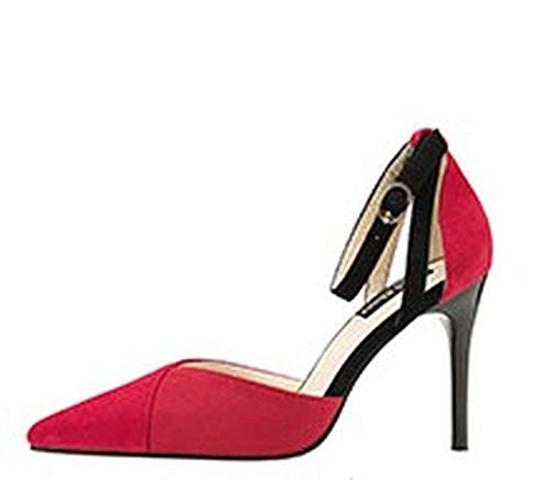 Pointed Toe Sexy Women's high Heels Ankle Strap Shallow Fashion Summer Pumps Women's Banquet Shoes -