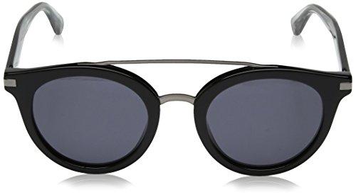 Tommy-Hilfiger-Womens-Th-1517s-Round-Sunglasses-BlackGrey-Blue-48-mm