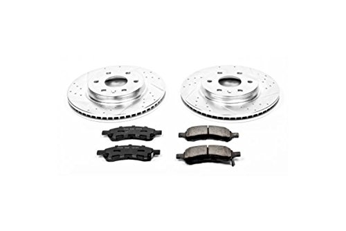 Power Stop K4657 Front Z23 Evolution Brake Kit with Drilled/Slotted Rotors and Ceramic Brake Pads