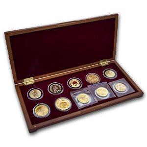 unknown 2011 1 oz 10-Coin Around the World Gold Bullion Set Brilliant Uncirculated -