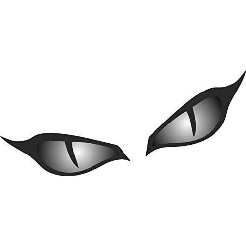 Paire de Evil Eye Yeux Casque en noir pour moto biker Design Autocollant pour voiture 80x 40mm chaque