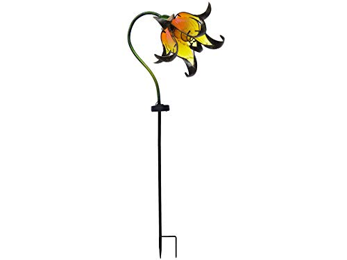 Continental Art Center Inc. CAC17146B Flower Decor Outdoor Solar Yard Art Garden Stake, ()