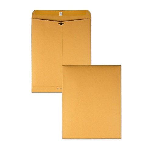 Quality Park #105 Clasp Envelope, 11.5 x 14.5 Inches,  Brown Kraft, Carton of 100 (37905)