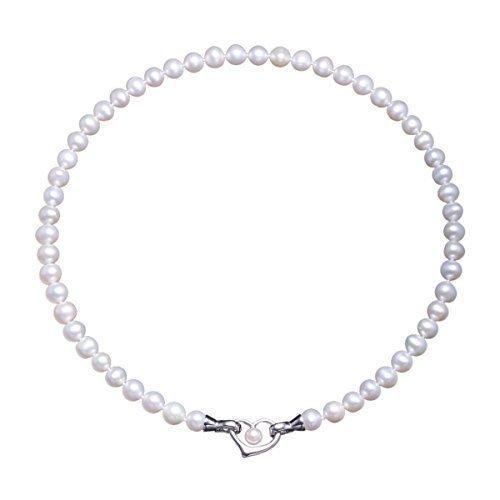 VIKI LYNN Damen Kette Hochzeitstag Perlenkette Perlen Halskette mama Geschenkideen in 3 Tragevarianten mit 7-8mm Süßwasserzuchtperlen und Sterling silber 925