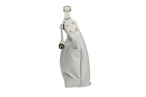 Tasche damen schulter PIERRE CARDIN shopper grau in leder MADE IN ITALY VN1101