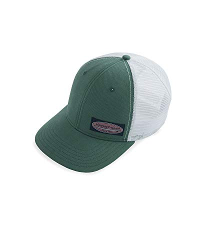Vineyard Vines High Profile Surf Label Trucker Hat - Sage