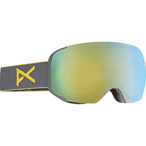 Anon M2 Goggles, Gray Frame, Gold Chrome Lens, One - Anon Goggles M2