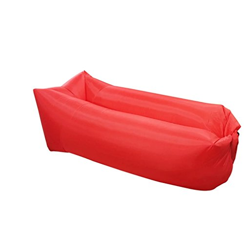 Modern Travel Home Simple Inflatable Sofa Creative Style Unique Red Single Lazy Sofa by BJXM