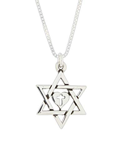Bob Siemon Sterling Silver Star of David Cross Necklace on 18