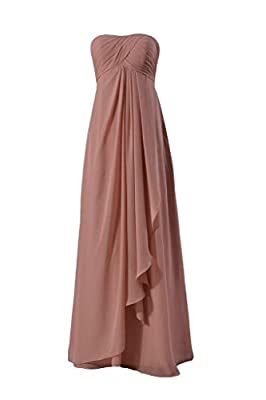 DaisyFormals Long Strapless Chiffon Bridesmaid Dress Lady Evening Dress(BM4046L)