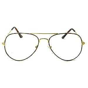 RETRO Photocromic Transition Unisex Clear Lens Classic Aviator Sunglasses (Tortoise, Clear)