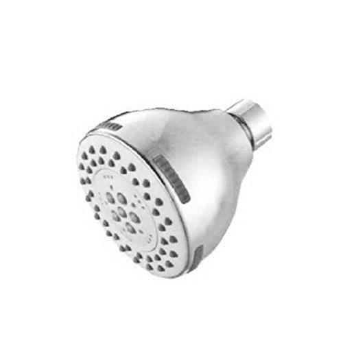 Nickel 18 gpm Maximum Flow Baypointe 138318CA Adjustable 5 Settings Ball Joint Fixed Plastic Shower Head with 3 Diameter