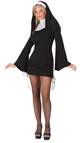 Naughty Nun Plus Size Costumes (Naughty Nun Adult Costume - Medium/Large)