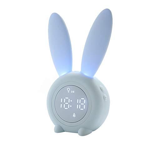BLAK SKY Rabbit Digital Alarm Clock Children Cartoon Clock Night Light Children Birthday Gift