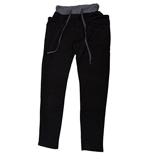 SODIAL(R) Casual Hommes Jogging Danse V¨ºtements de sport Pantalon Bouffant Sarouel Pantalons de Sport Pantalons de Surv¨ºtement Noir Taille XXL