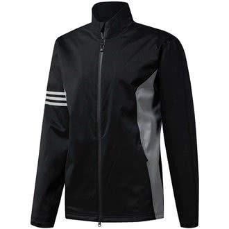 adidas Golf 2019 Mens Climaproof Full Zip Waterproof Rain Golf Jacket Black Large