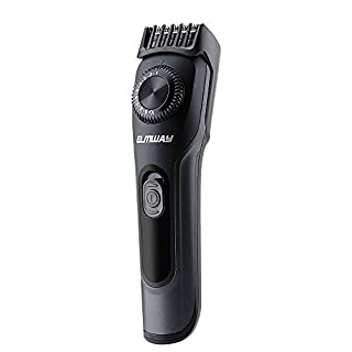 ELMWAY Beard Trimmer with Precision Dial, Rechargeable Barber Shop Facial Hair Trimmer, Cordless Hair Clippers Men Grooming Kit, Adjustable 19 Length Settings Body Hair Trimmer for Men, Women, Kids