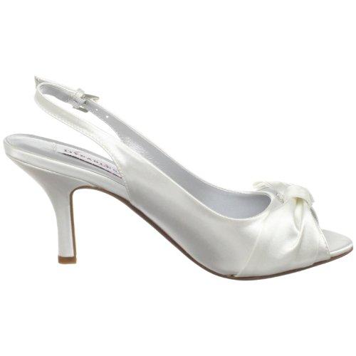 Pump White Faye Dyeables Satin Women's Open Toe IX1PxvnP