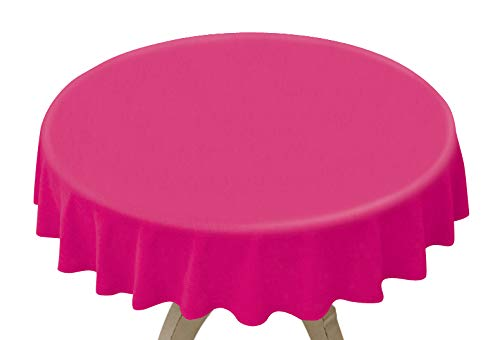 Table Plastic Pink Hot - Disposable Plastic Table Covers (8 Pack, 84