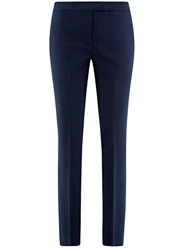Pantalones Ajustados Mujer Collection Oodji 7910s Básicos Azul U64xfq7