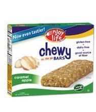 Enjoy Life Caramel Apple Chewy On The Go Bars, Gluten, Dairy & Nut Free, 5 Bars per Box, 6 Boxes per Case (Total 30 Bars)