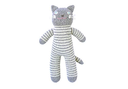 Blabla Pepper The Cat Mini Plush Doll - Knit Stuffed Animal for Kids. Cute, Cuddly & Soft Cotton Toy. Perfect, Forever Cherished. Eco-Friendly. Certified Safe & Non-Toxic. (Blabla Pink Cat)