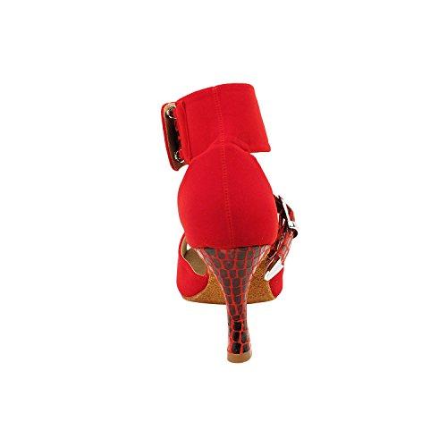 Collezioni Di Pompe Per Abiti Da Sera In Velluto Party Party, Scarpe Da Sposa Comfort: Scarpe Da Ballo Da Donna, Tacco Medio, Tango, Liscio, Velluto Rosso Standard 7015-