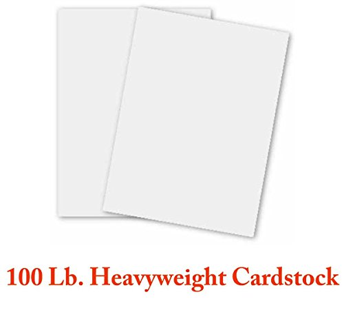 Superfine's White Heavyweight - Extra Thick Card Stock - 8.5 x 11 Inches - 100lb Cover (270gsm) - 100 Sheets Per Pack