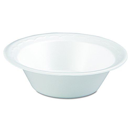 Genpak 82100 12-Ounce White Celebrity Foam Dinnerware Plate 125-Pack (Case of 8) Celebrity Foam Bowls