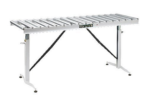 HTC HRT-90 Adjustable Folding Roller Conveyor Table 66-Inch length by 24-Inch wide 17-Ball Bearing Rollers, 500 Lbs. Material support