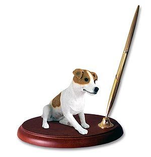 - Jack Russell Terrier Pen Holder (Brown & White Smooth)