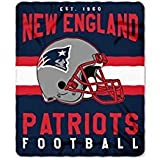 New England Patriots Blanket. This soft fleece throw blanket will keep you warm at the game or ar home.