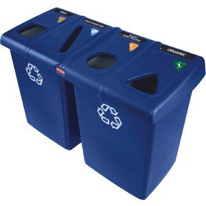 Rubbermaid Glutton 6-Container Recycling Station, -