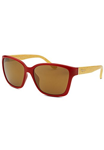 Salvatore Ferragamo Sunglasses SF716S 618 Red Yellow Wood 58 16 - Salvatore Ferragamo Sunglasses