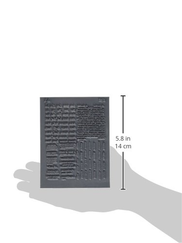 Great Create Lisa Pavelka Individual Texture Stamp 4.25 by 5.5-Inch Say It 1 Per Package