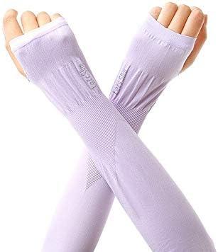Rodilleras transpirables Protección UV de refrigeración mangas del brazo, largo de seda del hielo protector solar mangas for hombres y mujeres for Running Ciclismo Pesca Deportes y tiempo libre