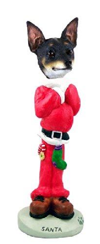 Rat Terrier Santa Doogie Collectable Figurine - Terrier Rat Figurine