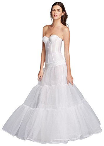 Ball Gown Silhouette Slip Style BALLGOWNSLIP, White, L