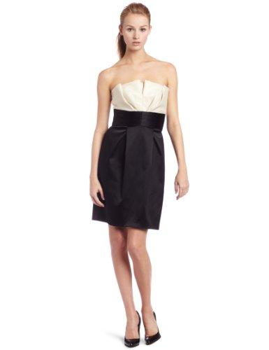 maxandcleo Women's Strapless Hepburn Dress, Black/Ecru, 8 (Cleo Dress Black And Max)