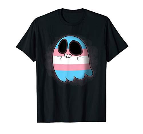 Cute Rainbow Transgender Ghost Halloween Costume T-Shirt -