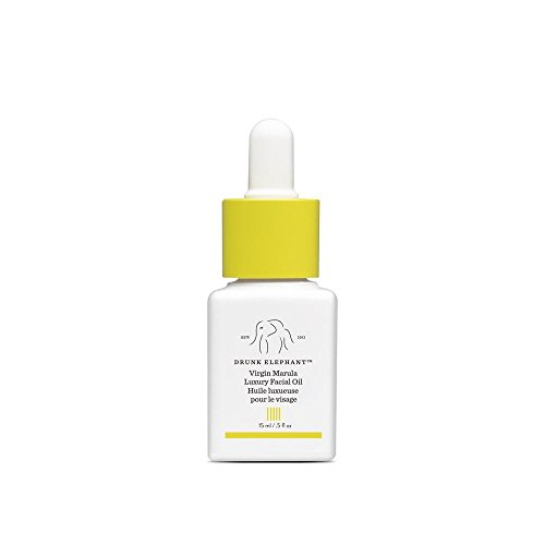 Drunk Elephant Virgin Marula Luxury Facial Oil - Gluten-Free and Vegan Anti-Aging Skin Care and Face Moisturizer (15ml/ 0.5 fl oz)
