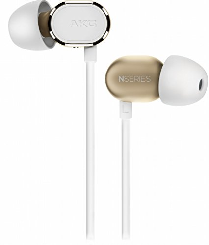 AKG N20 Premium Reference Class In-ear Aluminum Enclosure Earbud Headphones, Includes Flight Adaptor, Cleaning Tool and Semi-Hard Case, Gold