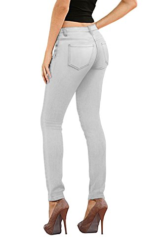 (HyBrid & Company Womens Super Stretch Jeans-P26132SK-Grey-3)